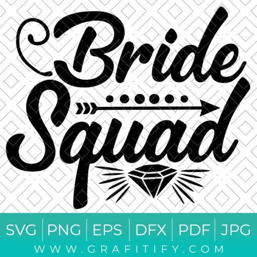 Bride Squad Svg