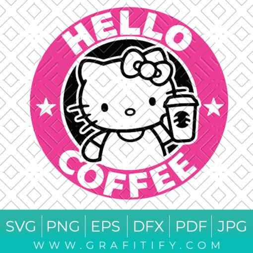 Hello Kitty Starbucks Svg
