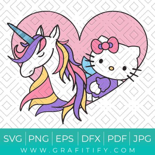 Hello Kitty Unicorn Svg