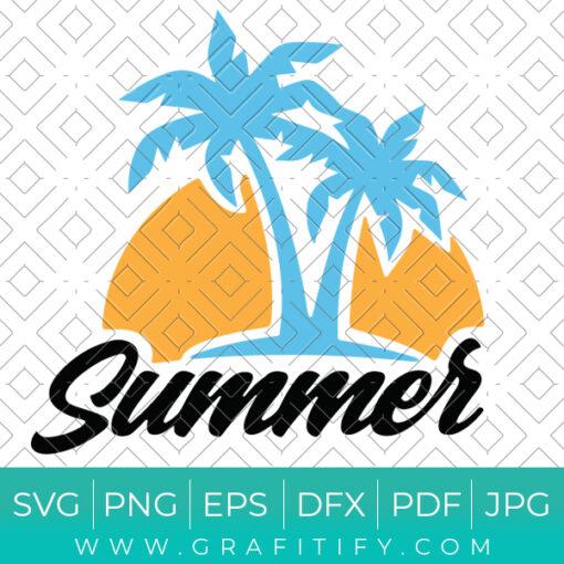 Palm Tree Summer Svg
