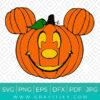 Pumpkin Mickey Ears Svg