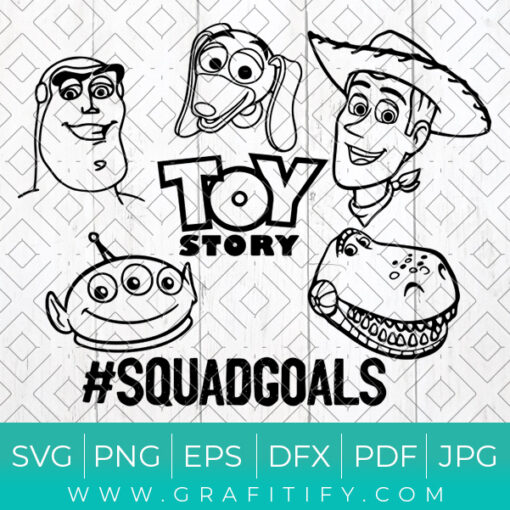 Toy Story SquadGoals Svg