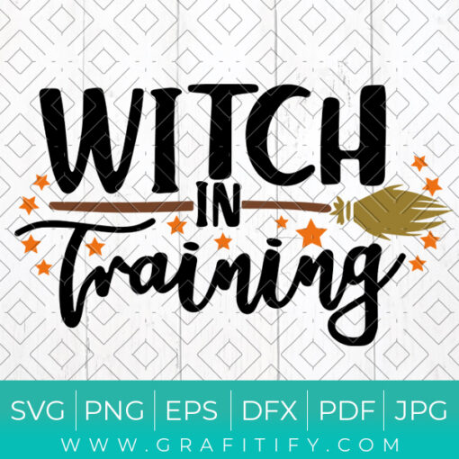 Witch in Training Svg