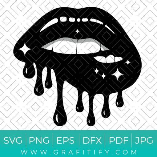 Dripping Lips Svg