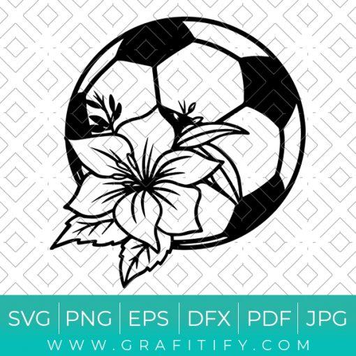 Floral Soccer Ball Svg
