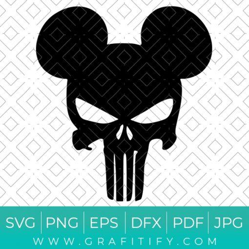Mickey The Punisher Svg