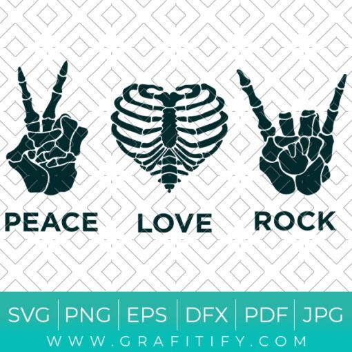 Peace Love Rock Svg