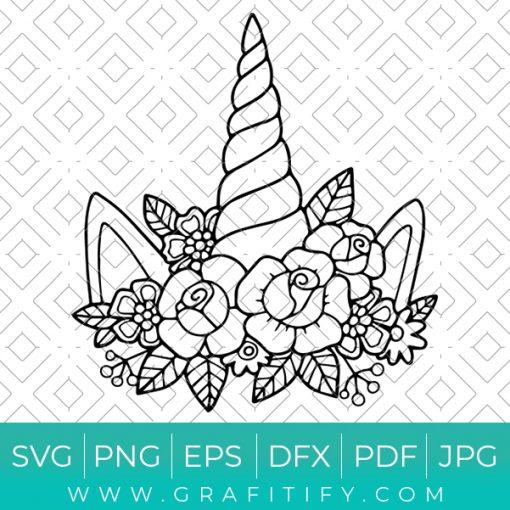 Unicron Floral Svg