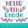 Hello 4th Grade Svg