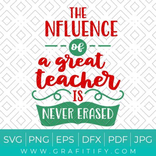 The Influence of a Good Teacher Svg