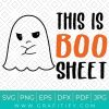 This Is Boo Sheet Svg