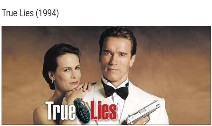 """the movie poster for the film """"True Lies"""""""