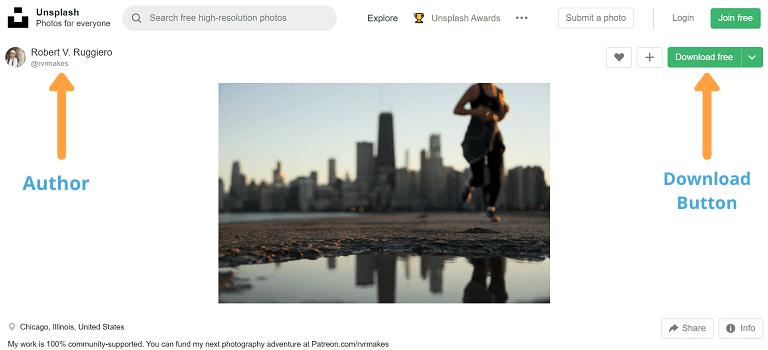 stock photo sites unsplash layout