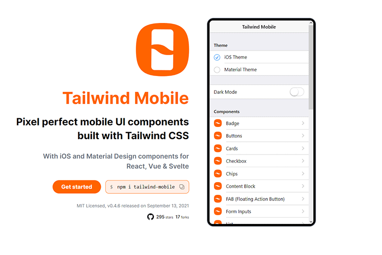 Example from Tailwind Mobile